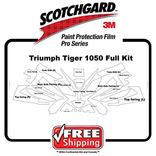 Kit for Triumph Tiger 1050 07-10 - 3M 948 PRO SERIES Scotchgard - Paint Protection