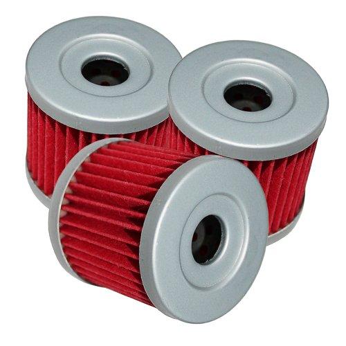 Caltric Oil Filter Fits Fits SUZUKI LTZ400 LT-Z400 QUAD SPORT 2003 2004 2005 06 07 08 2009 3-PACK