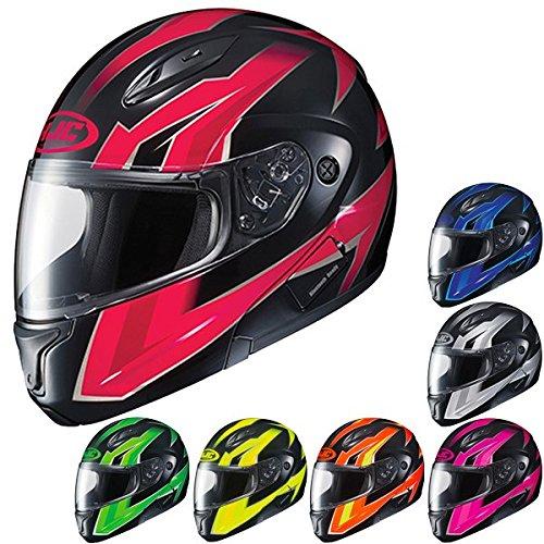 HJC CL-Max2 Ridge ModularFlip Up Motorcycle Helmet PinkBlack Large