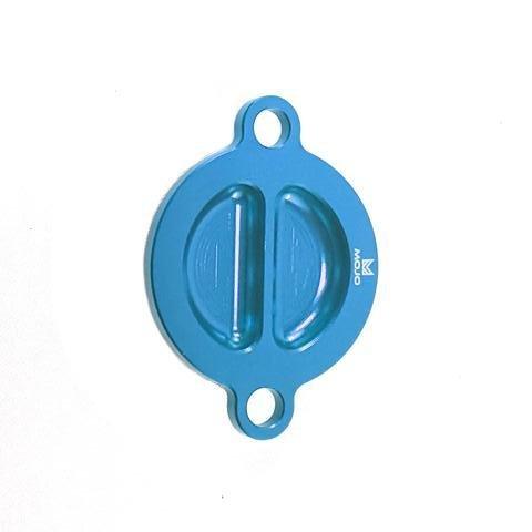 MojoMotoSport - KTM Oil Filter Cover Blue - CNC Billet Anodized Aluminum  MOJO-KTM-OFC2-BLU