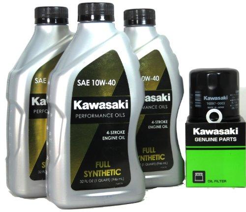 2010 Kawsaki BRUTE FORCE 750 4X4I REALTREE APG HD Full Synthetic Oil Change Kit