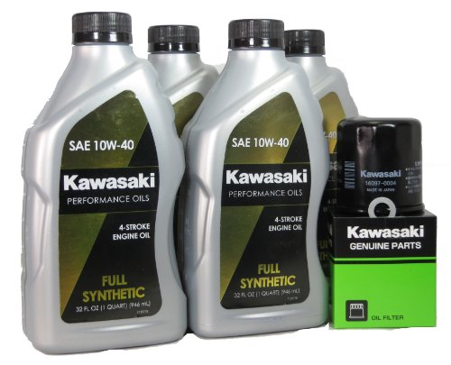 2013 Kawsaki Z1000 Full Synthetic Oil Change Kit