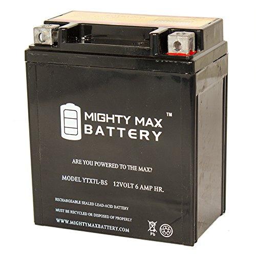 YTX7L-BS 12v 6Ah Battery for Honda 250 CB250 Nighthawk 1991-2009 - Mighty Max Battery brand product