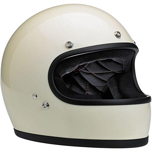 Biltwell Gringo Full Face Helmet Gloss Vintage White Large