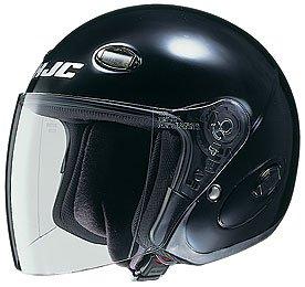 HJC CL-33 Open Face Motorcycle Helmet Black XXL 2XL