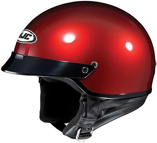 HJC CS-2N Open Face Motorcycle Helmet Wine Medium M