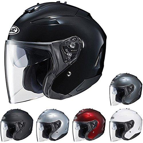 HJC IS-33 II Open-Face Motorcycle Helmet Matte Black Large