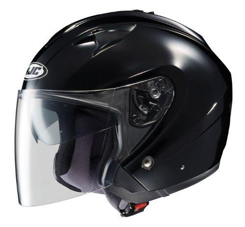 HJC IS-33 Open-Face Motorcycle Helmet Black Medium