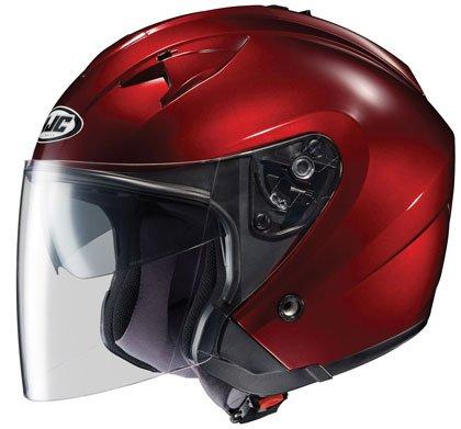HJC Mens IS-33 Open Face Motorcycle Helmet Wine Large L
