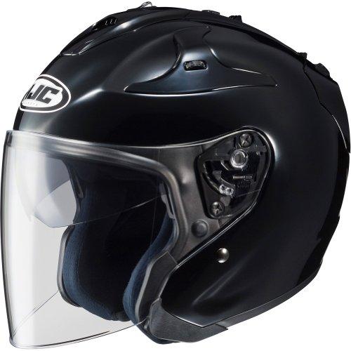 HJC Solid FG-JET 34 Open Face Motorcycle Helmet - Black  Large