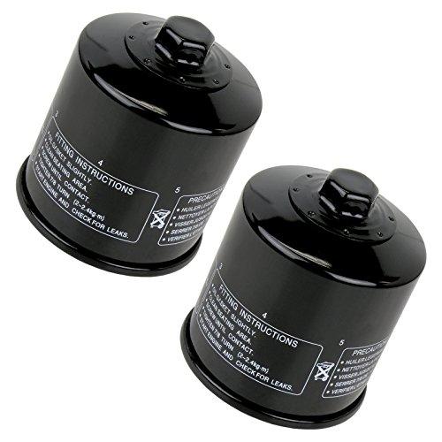 Caltric Oil Filter Fits KAWASAKI 620 KAF620 KAF-620 MULE 3010 4X4 2001-2008 2-PACK