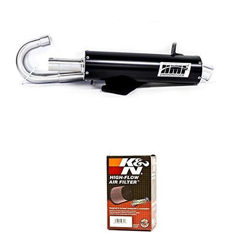HMF Honda Rancher 420 SRA 2014 - 2017 Black Full Exhaust Muffler  K&N Filter