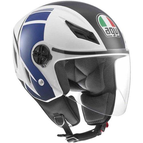 AGV Blade FX Open Face Helmet White Blue MMedium