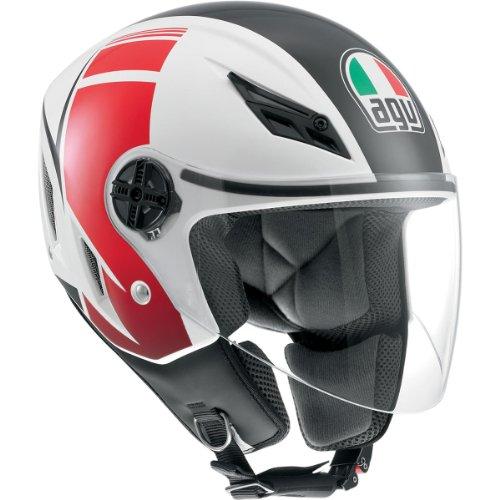 AGV Blade FX Open Face Helmet White Red LLarge