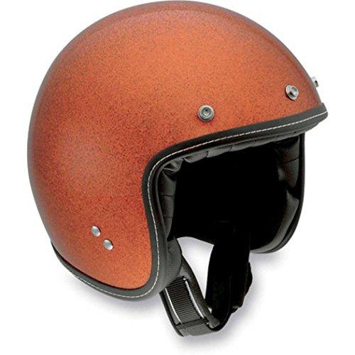 AGV RP60 Open Face Motorcycle Helmet Orange Metal Flake Small S