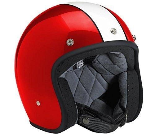 Biltwell Bonanza Racer Open Face Helmet Red White Medium
