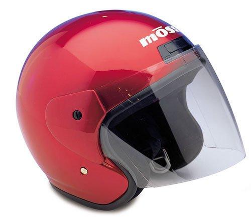Raider Open Face Helmet Red Medium
