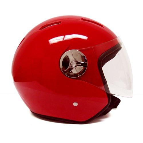 ScooterPartsDepot Open Face Helmet Red Small