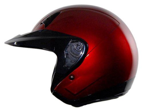 Vega NT 200 Open Face Helmet Candy Red Medium