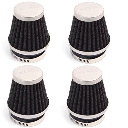 Farmunion 4x 54mm Air Pod Intake Filters for Honda Cb750 900 Kawasaki Kz1000 Suzuki Gs1100
