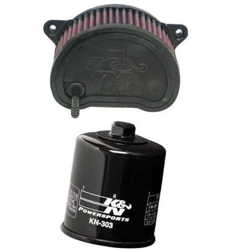 K&N Motorcycle Air Filter  Oil Filter Combo 1999-2003 Yamaha XV1600 Road Star YA-1699  KN-303