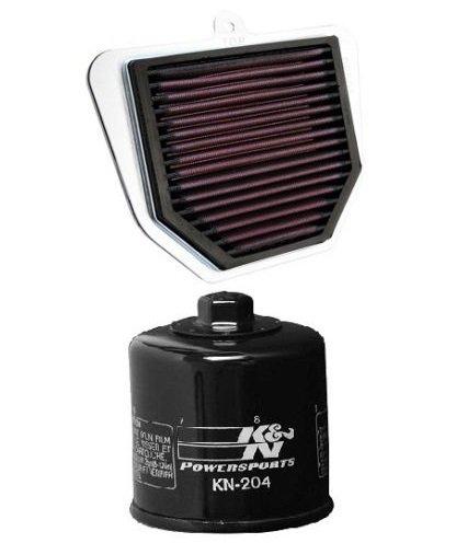 K&N Motorcycle Air Filter  Oil Filter Combo 2006-2015 Yamaha FZ1 YA-1006  KN-204