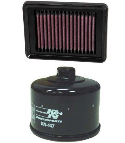 K&N Motorcycle Air Filter  Oil Filter Combo 2008-2011 Yamaha XP500 T-Max YA-5008  KN-147