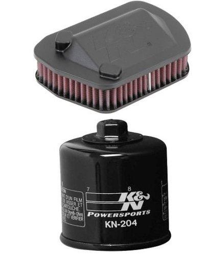 K&N Motorcycle Air Filter  Oil Filter Combo 2014 Yamaha XVS950 Bolt XVS950R YA-9514  KN-204