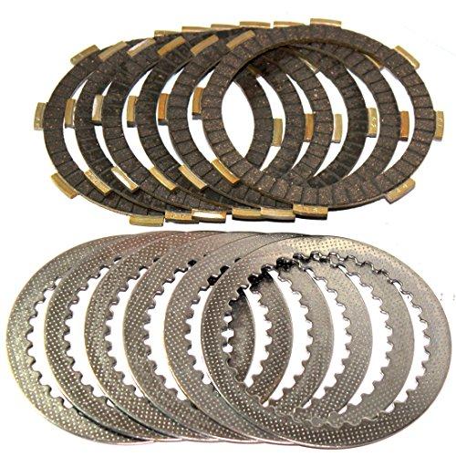 Caltric CLUTCH FRICTION STEEL PLATES Fits HONDA CB250 CB-250 NIGHTHAWK 250 1991-2007