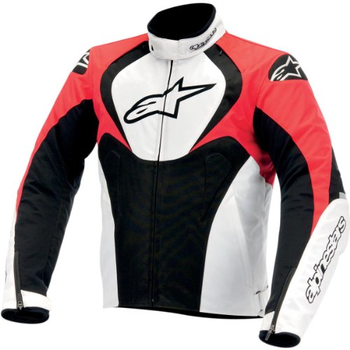 Alpinestars T-jaws Waterproof Jacket , Gender: Mens/unisex, Primary Color: Black, Distinct Name: Black/white/red