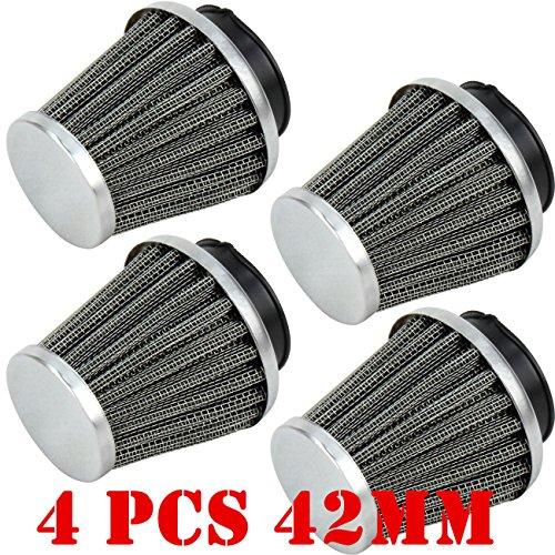 Triclicks 4X 42MM POD AIR FILTERS FILTER KAWASAKI Z1 KZ900 KZ1000 GPZ1100 KZ 900 4 pcs