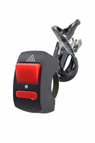 Iztoss 78 Motorcycle ATV Bike Handlebar Accident Hazard Light Switch ON OFF Button