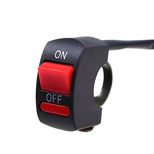 POSSBAY Motorcycle 78 Handlebar Switch On Off for Headlight Fog Spot light