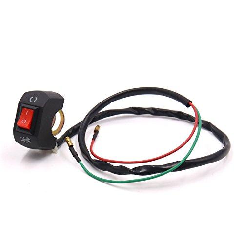 uxcell Motorcycle ATV Waterproof Handlebar Headlight Spot Light On Off Button Switch