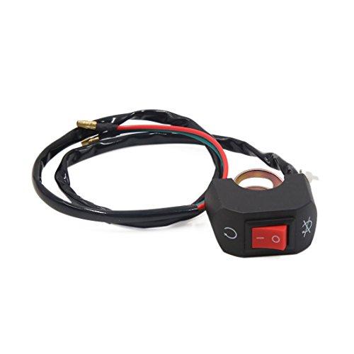 uxcell Universal Black Motorcycle Handlebar Headlight Fog Singal Lamp OnOFF Switch