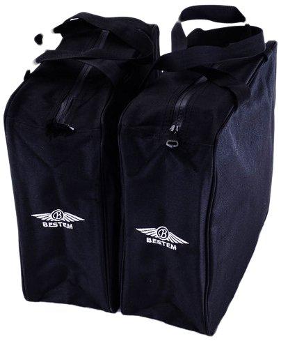 Bestem LGHD-HERIT-SDL Black Saddlebag Liners for Harley Davidson Heritage Softail Pair