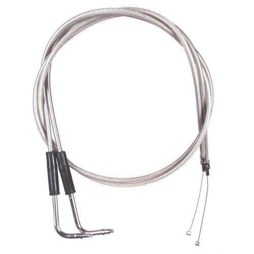Stainless Braided 10 Throttle Cable Set for 1999-2006 Harley-Davidson Sportster 1200 Custom models - HC-0304-0305-1200C99