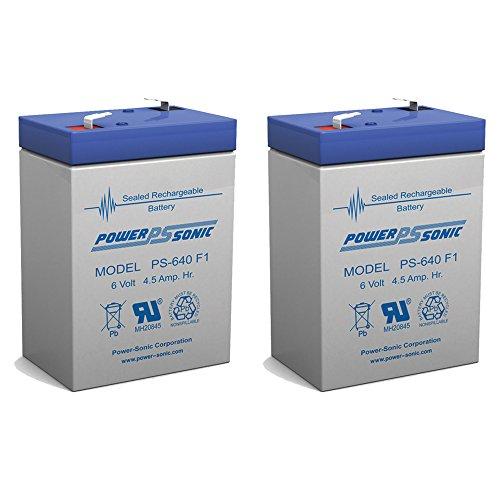 PS-640F 6 Volt 45 Amp Hour Sealed Lead Acid Battery - 2 PACK