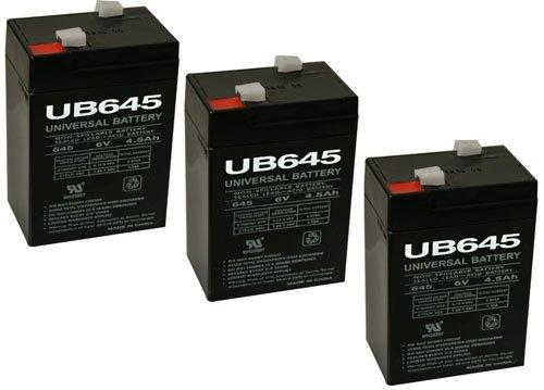 UB645 Sealed Lead Acid Battery - 3 Pack