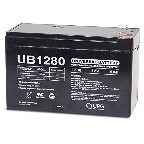 Universal - UB1280 12V 8AH Sealed Lead Acid Battery F1 187 TT