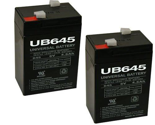 Universal UB645-UPG UB645  D5733 Sealed Lead Acid Battery 6V  45 AH - 2 Pack