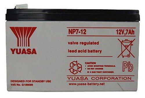 Yuasa NP7-12 12V 7AH Battery 2 Pack