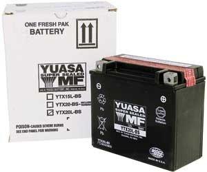 Yuasa YT12A-BS Maintenance free VRLA Battery for 1999-2010 Suzuki GSXSVTL Mod