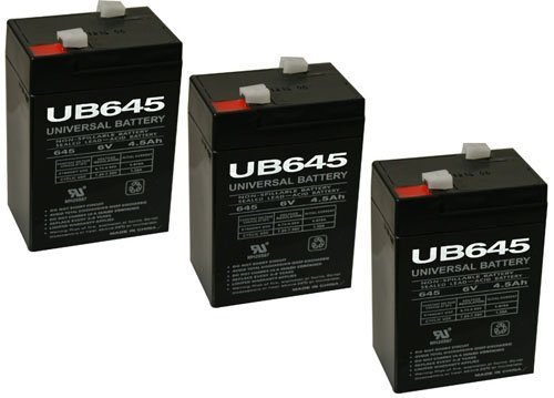 UB645 Sealed Lead Acid Battery - 3 Pack