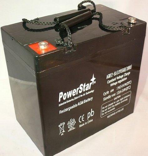 UPG 12V 55Ah Power Boat Pontoon Electric Trolling Motor Deep Cycle Battery