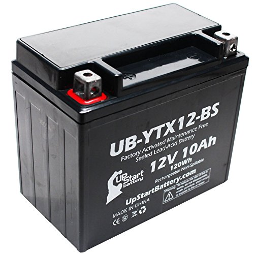 Replacement 2010 Kawasaki Vulcan 900 Classic 900 CC Factory Activated Maintenance Free Motorcycle Battery - 12V 10Ah UB-YTX12-BS