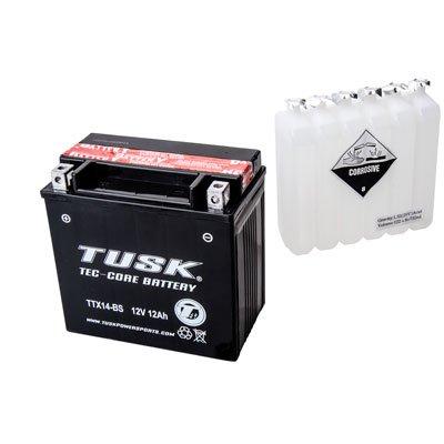 Tusk Tec-Core Battery with Acid TTX14BS Maintenance-Free -Fits Honda Pioneer 1000-5 2016-2017