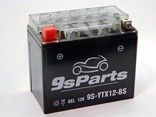 9sparts YTX12-BS Maintenace Free 12V Sealed Gel Battery For 2008-2011 Suzuki GSX1300 B-King 2008-2017 Suzuki Hayabusa GSX1300R 2000-2003 Triumph TT600 2001-2005 Triumph Bonneville Speedmaster 800