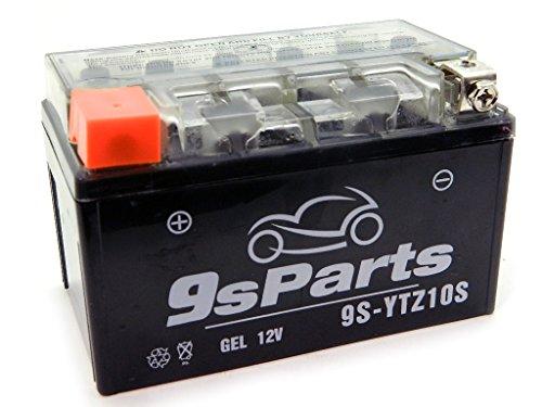 9sparts YTZ10S Maintenace Free 12V Sealed Gel Battery For 2009-2010 Honda CBF1000F 2013-2016 Honda CBR500R CB500X CB500F 2001-2016 Honda CBR600 F4i CBR600RR 2004-2007 Honda VT600 Shadow Deluxe 600