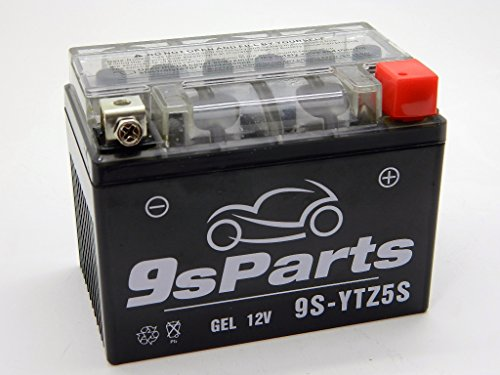 9sparts YTZ5S Maintenace Free 12V Sealed Gel Battery Motorcycle Powersports Scooter